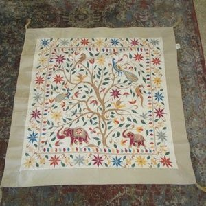 Boho Embroidered Wall Hanging Tapestry